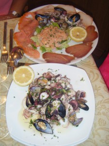 The Antipasto that night-missed taking a pic of the entrees